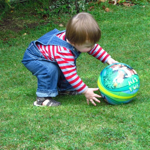 New - small child with ball